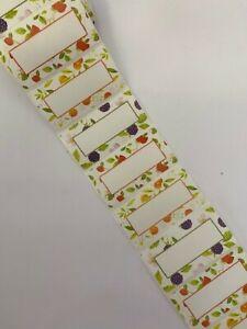 100 x Jam JAR LABELS, JAM, MARMALADE, Strawberry Jar & Bottle Labels 3 Designs