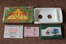 RARE BOXED NINTENDO GAME & WATCH ZELDA ZL-65 1989 VERY GOOD EXAMPLE