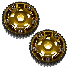Two New Adjustable Billet Racing Gold Cam Gear For Honda & Acura B Series