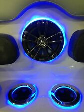 Lighted speaker rings ( one pair 2 ) Blue