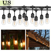 49FT LED Outdoor Waterproof Commercial Grade Patio Globe String Lights Bulbs