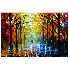 Landscape Tree Forest Art Wall Painting Canvas Mural Home Room Decor Unframed