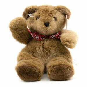 Hallmark Ambassador Plush Brown Bear With Red Bow 9 Inches