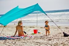 Neso Beach Tent with Sand Anchor, Portable Canopy for Shade - Teal - Used