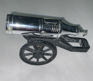 Vintage 1950's Field Cannon Table Lighter Modern Japan DICAST & chrome