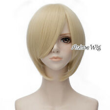 Basic Cosplay Black/Wine Red/Blue/Light Blonde 30cm Heat Resistant Women Wig