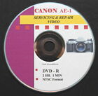 CANON AE-1 Prog Master Servicing  Repair Video on DVD  :o