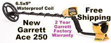 """NEW Garrett Metal Detector Ace 250  with 6.5x9"""" Waterproof Coil * Free Shipping"""