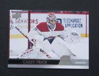 Carey Price 2020-21 Upper Deck Series 2 Hockey card #353