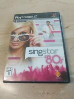 Singstar 80's PlayStation 2 PS2