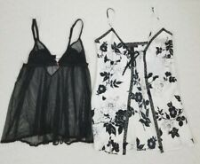 Lot of 2 Victoria Secret Bay Doll Chemise Teddie Nightie Lingerie Size Small