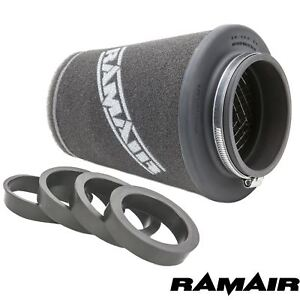 Ramair Performance Induction Universal  Air Filter - 90MM ID Reducing Rings Inc