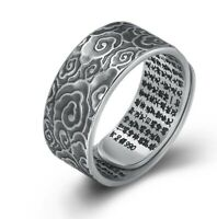 990 STERLING SILVER lucky clouds Heart Sutra RING Rings  jewelry