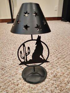 Metal Desert Night Tea Candle Holder - Black