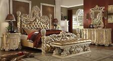 Homey Design HD-7266 Traditional Ornately Golden Khaki Eastern Bedroom Set 5Pcs