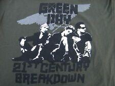 Green Day 21st Century Breakdown Concert Tour T Shirt Size Xl Exc+