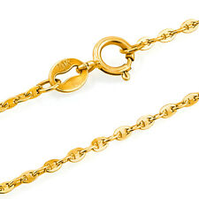 10 Inches 1.2Mm 10Kt Solid Yellow Gold Mariner Anklet Bracelet