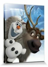 Die Eiskönigin - Olaf Sven Disney Poster Leinwand-Druck Bild (40x30cm) #81433