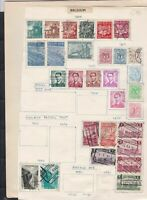 belgium  stamps page ref 18060