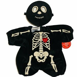 Build A Bear Workshop Skeleton Heart Costume Outfit Mask Glow in Dark? Halloween