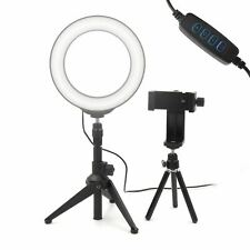 16cm Ring LED Light Dimmable Colour Change Phone Tripod Streaming Video Photo