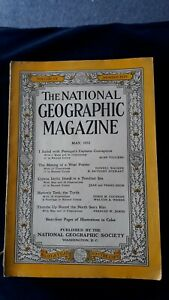 The National Geographic Magazine May 1952 volume CI Number 5 Cadillac + Cruise