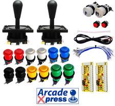 Kit Joystick Arcade x2 IL HAPP Negro 12 botones Industrias Lorenzo Usb 2 player