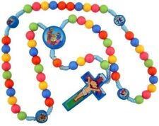 "Child Saint Multi Color Prayer Beads w Nativity Center 15"" Cord Rosary for Kids"