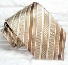 Cravatta righe uomo marrone 100% seta Nuova Made in Italy handmade marca Morgana