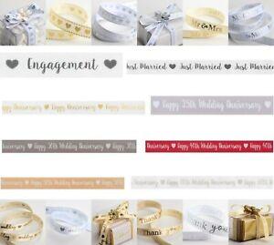 Wedding Ribbon Hearts Engagement Anniversary 25th 30th 40th 50th 60th