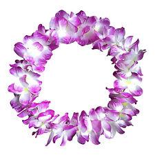 1PC Lei Flower Garlands Necklace Hawaiian Tropical Beach Party Fancy Dress