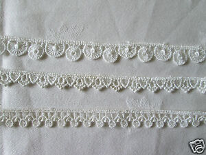 Guipure Lace Trim  IVORY  choice of design and length.