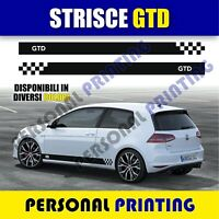 Adesivi decal fasce auto sticker TUNING golf gtd gti turbo racing rally WRAPPING