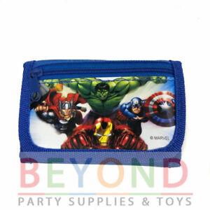 Avengers Kids Boys Black Tri-Fold Wallet