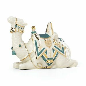 Lenox First Blessing Teal Camel Laying Down Porcelain Nativity Figurine 869930