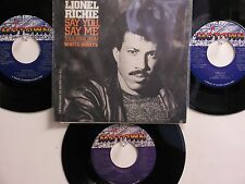 LOT OF 4 ' LIONEL RICHIE ' HIT 45's+1PS[Say You, Say Me]        THE 80's!