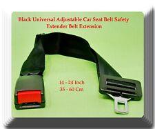 14-24 Black Universal Adjustable Car Seat Belt Safety Extender Belt Extension