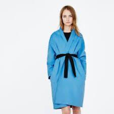 MAJE bleu Galope Surdimensionné Ceinturée Manteau Taille 1 (UK 8) RRP £ 479 Box4648 C