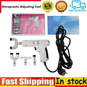 110-220V Pro Chiropractic Tool Electric Spine Adjusting Corrector + 4 Heads MR