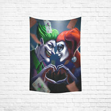 Wall Hanging Tapestry Harley Quinn and Joker Cotton Linen Tapestry 40 x 60 Inch