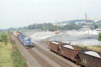 CONRAIL Railroad Locomotive Freight Trains Original 1991 Photo Slide