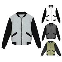 Womens Ladies Classic MA1 Contrast Brave Soul Biker Zip Mod Fleece Bomber Jacket