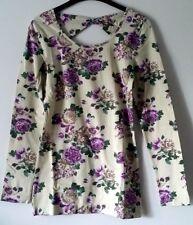 AJC , Langarm - Shirt mit Blumendruck , Größe 40 , NEU