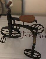 vintage Mini Tricycle Decor/Toy Vintage Wood & Metal.