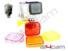 Filtro TMC Immersione Set per GoPro Hero 3+ GoPro Hero 4 | Rosso | Filtro Filtro Magenta