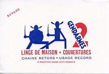 BUVARD PUBLICITAIRE / LINGE de MAISON COUVERTURES / 2 GENDARMES  / A ROUBAIX