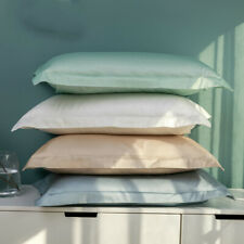 100 Double-stranded Cotton Pillowcase Gonsin Cotton Pillow Set Solid Color