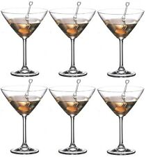 Crystalite Bohemia Martini Glasses Set of 6 Colibri Crystal Martini Glass 280ml