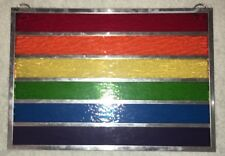 Rainbow (LGBTQ) Pride Flag In Textured Stained Glass
