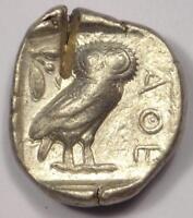 Ancient Athens Greece Athena Owl Tetradrachm Coin (454-404 BC) - XF (Extra Fine)